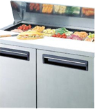 Open-topped refrigerator